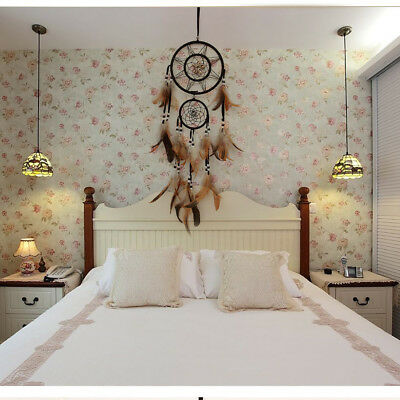 1x Dream Catcher With feathers Wall Hanging Decoration Decor Bead Ornament