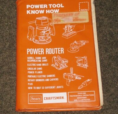 Sears Craftsman Router Power Tool Know How Book Revised 1977