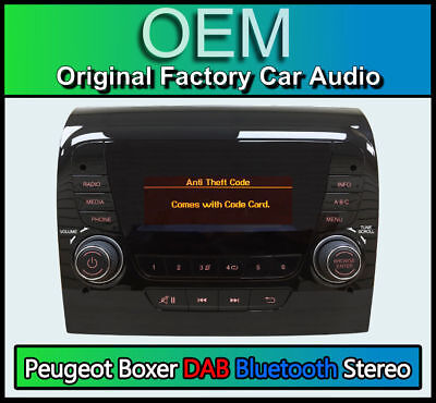Peugeot Boxer stereo DAB Radio, Bluetooth Handsfree, Fiat 250 VP1 DAB with CODE