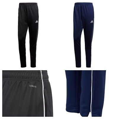 Boys Adidas Tracksuit Bottoms Sports Training Football Trouser Pants Black Navy