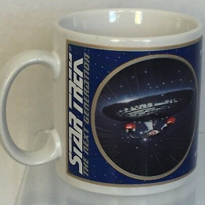 Star Trek Next Generation USS Enterprise NCC-1701-0 Coffee Mug Vintage 1994