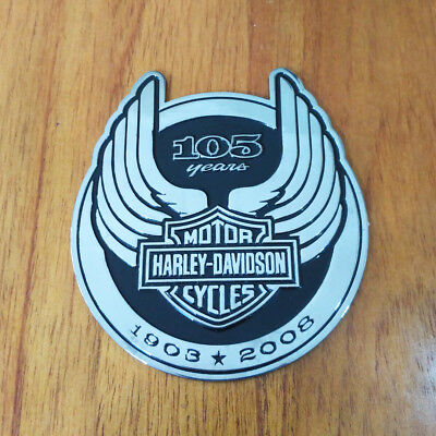3D 105th Anniversary Metal Emblem / Medallion For Harley Davidson Tank / Body