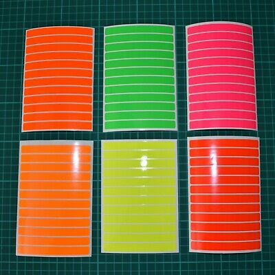 12 Fluorescent Strips Stickers for Motorbike Cycle Safety Hi-vis High Visibility
