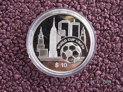 East Caribbean States 1994 10 $ World Cup  94 USA Fußball Silber