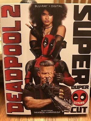 Deadpool 2 (Blu-Ray) W/Slipcover Super Duper Cut - Free Shipping