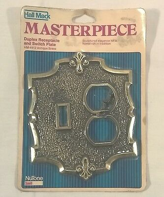 Vintage Hall Mack Masterpiece Outlet Switch Cover Antique Brass New