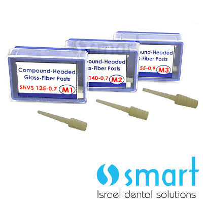 Dental Fiber Post with enlarged Head 3 boxes of 6 pcs endodontic endo different