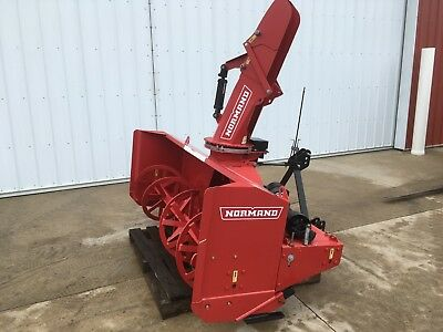 New Normand N82 260H Snowblower Two Stage 3pt PTO Powered Hyd. Chute Angle