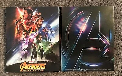 Avengers: Infinity War 4K Target Excl Artwork Blu-ray Slipcover Only