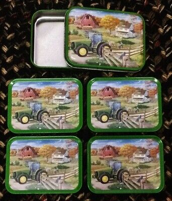 Collectible John Deere 4 Coasters with Tin Free Shipping