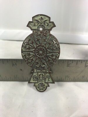 Eastlake Victorian Brass Antique Door Bell Pull Collectible Hardware