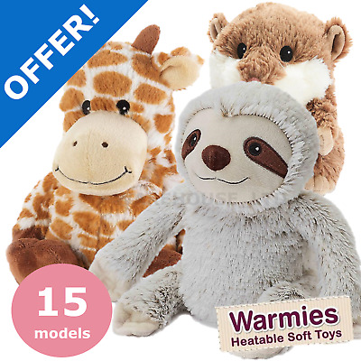 Warmies Cozy Plush Heatable Microwavable Lavender Super Soft Toy Animals Giraffe