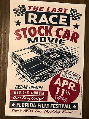 The Last Race stock car movie poster Dweck Riverhead Raceway Enzian Florida