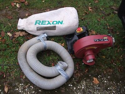 Rexon 1000A dust extractor with hose and collection bag complete