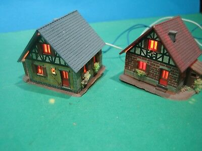 Z Scale > Two Half Timbered Houses > Pre-Built & Lights > Vgc See Pic's #53