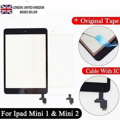 For iPad Mini 1/2 Black Touch Screen Digitizer Replacement Assembly +Genuine IC