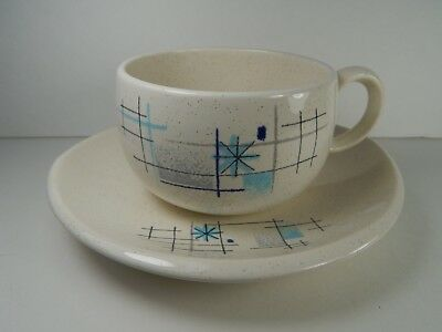 Franciscan Oasis Cup and Saucer. 1950's Retro Atomic.
