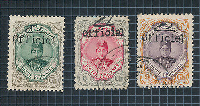 Postes Persanes Stamps 1914-1916 Arms & Shah Qajar Overprints #553, 3 Pages Vf