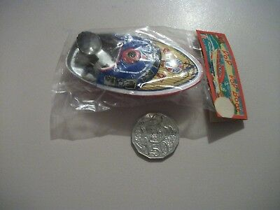 Vintage Tin Pop Pop Boat Tin Toy AT Japan 1960's Sealed Steam Candle Powered