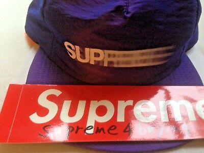 c949d8b8fd9 Supreme Motion Logo Iridescent 5 Panel Cap Purple hat SS16 NEW red box logo  NYC