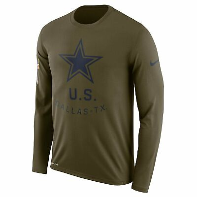 Dallas Cowboys 2018 Salute To Service USA Sideline Dri-Fit Longsleeve Tee