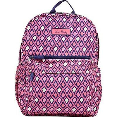 299140af76 Vera Bradley LIGHTEN UP JUST RIGHT BACKPACK-BOOK BAG KATALINA PINK DIAMONDS