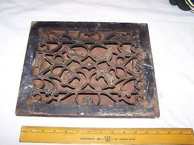 Vintage Cast Iron FLOOR GRATE Heat REGISTER Vent  Antique Victorian House Ornate