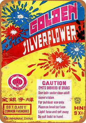 """7"""" x 10"""" Metal Sign - 1988 Chinese Fireworks - Vintage Look Repro"""