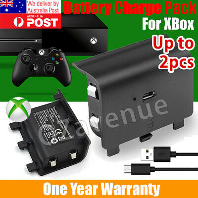 For Xbox One Style Battery Pack Controller Rechargeable Wireless USB 2400mAh 1/2