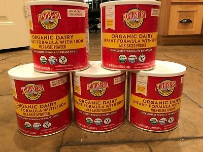 Earth's Best Organic Infant Formula With Iron Powder Exp 10/25/2020