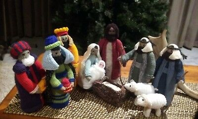 Handknitted Christmas Nativity Scene