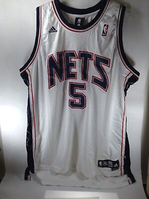 Vintage JASON KIDD NEW JERSEY NETS   5 CHAMPION AUTHENTIC JERSEY WHITE SZ  XXL 5 85b873427