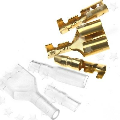 40 Kits Motorcycle Bullet Connectors Covers Terminals 3.9mm Male/Female & Double