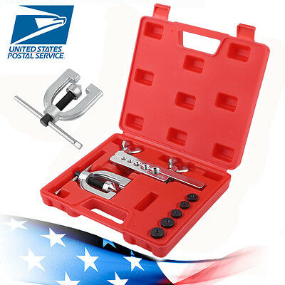 Sae Double Flare Brake Line Flaring Hand Tool Set Kit With Case Bp