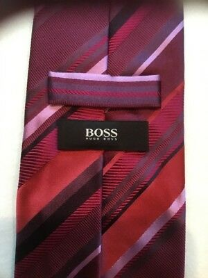 Hugo Boss Striped Men's Tie, All Silk, Length 59 inches, Width 3 3/8 inches, $ 9