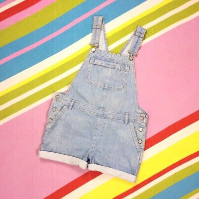 Topshop Moto Maternity Dungarees Shorts Light Blue Pregnancy size 10 Overalls