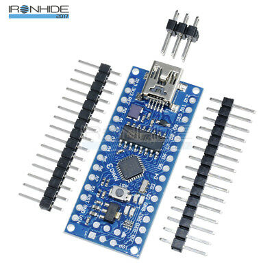 Nano V3.0 ATmega168 16M 5V Mini USB Micro-controller CH340G Adapter For Arduino
