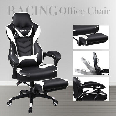 Executive Racing Gaming Office Chair Rock Lift Swivel Sport Computer Desk Seat