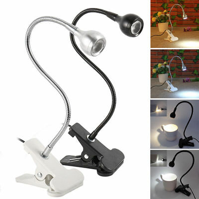 Flexible USB LED Light Clip-on Bed Table Desk Study Book Reading Lamp KY