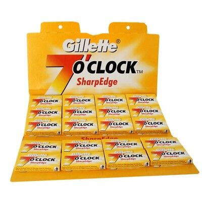 100 Gillette 7 o'clock Sharp Edge Stainless Steel Razor Blades (Yellow) £ 8.99