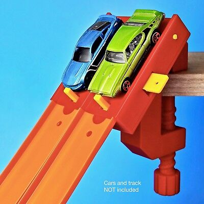 2-Lane Start Gate w/ Clamp (Compatible with Hot Wheels Race Track & Cars)