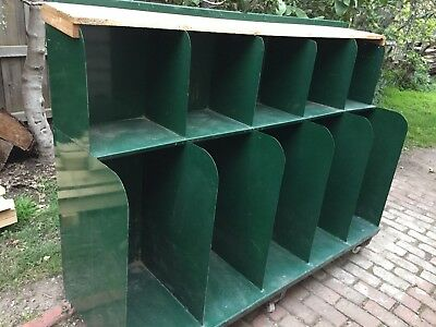 Industrial shop custom storage, racking, shelving, display unit. Vintage & Retro
