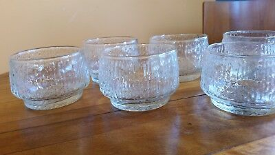 Set of Six Retro Dessert Dishes/Bowls Wet Water Look - Littalia of Finland?