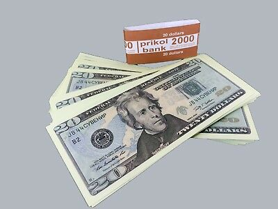 PROP MONEY NEW 20$ dollars bills, Play, Copy, Double-Sided Printing for Movie,TV