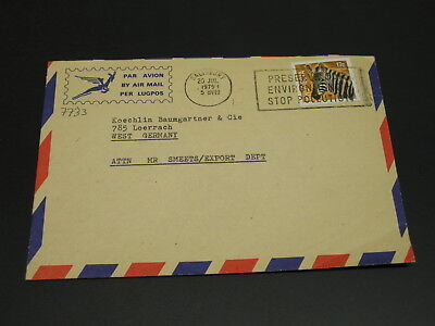 Rhodesia Zimbabwe 1979 airmail cover to Germany *7733