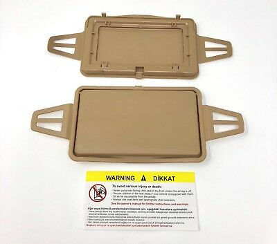 MERCEDES E CLASS W210 W211 SUN VISOR SHADE MIRROR COVER BEIGE  (Left  or Right)