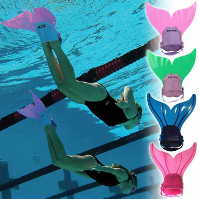 Children Kids Mermaid Swimming Practice Flippers Toy Diving Mono Fin Tails