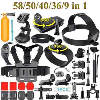 5 Styles GoPro Accessories Hero 6 5 4 3 2 1 Bundle Camera Outdoor Sports Set Kit