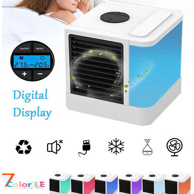 Mini Portable Air Conditioner Humidifier Cooler Cooling Fan Water Ice Bedroom