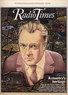 Radio Times 13 Oct 1979 . Donald Sinden Cover . Basil Brush Feature . Doctor Who